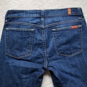 7 for all mankind slim straight jeans 28